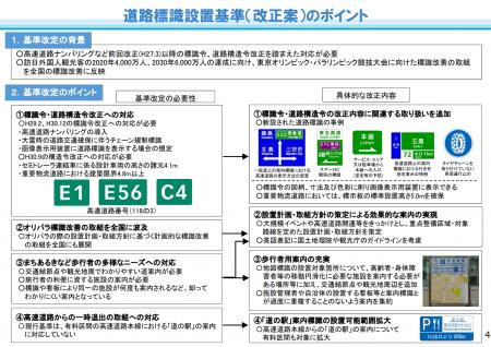 【政策資料集】道路標識の設置基準