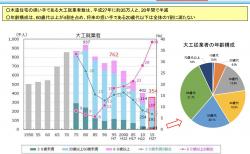 【政策資料集】大工 就業者数の推移と年齢構成