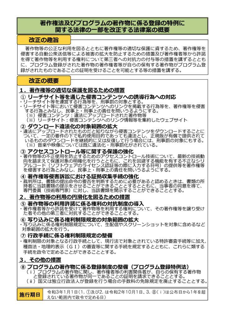 27著作権法及びプログラム登録特例法改正法_概要のサムネイル