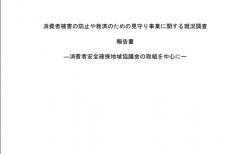 【報告書】消費者被害の防止や救済のための見守り事業に関する現況調査報告書